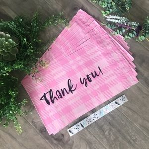 """POLY MAILERS plaid thank you - (10)  10"""" x 13"""" 📦"""